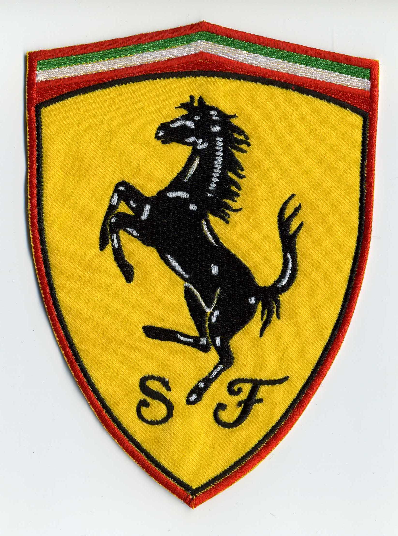 Ferrari stickerei